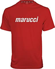 100% polyester Moisture management material Soft, lightweight material Mariucci screen printed across chest Twill taped neck for comfort