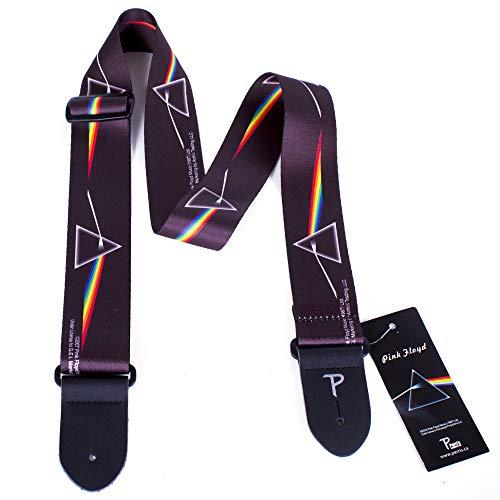 Perri's Leather LPCP-1070 - Correa para guitarra (poliéster, 5 cm de ancho), diseño de Dark Side of the Moon de Pink Floyd