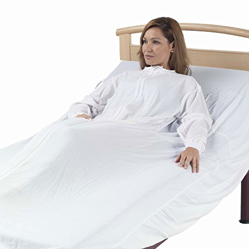 Adiggy Medical | Drap fantôme de sécurité pour adultes | Prévenir les chutes de nuit | Convient pour les lits de 90 et 105 cm | Manche courte