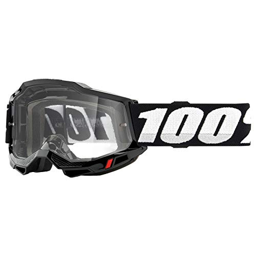 100% ACCURI 2 UTV/ATV Sand/OTG Gafas Negro - Lente Fotocromática