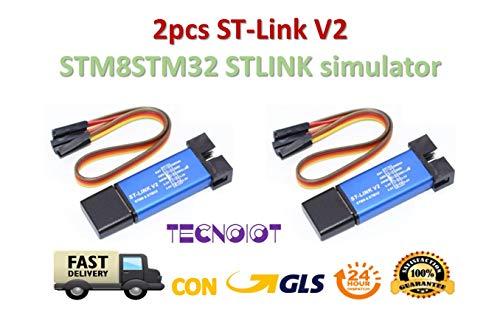 TECNOIOT 2pcs ST-Link V2 Mini STM8 STM32 STLINK Simulator Download Programming