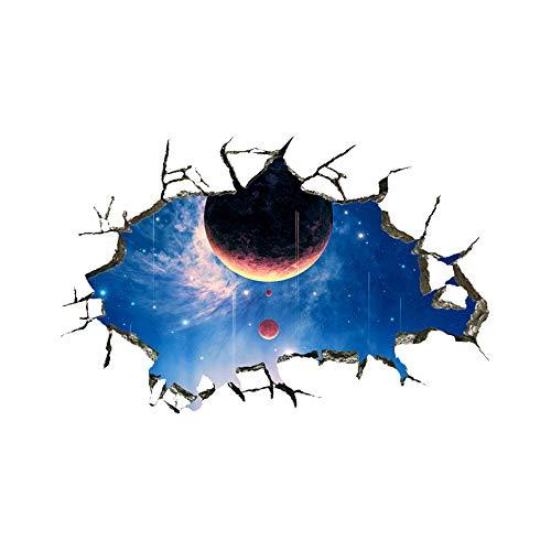 murale ZOZOSO 3D Broken Wall Vast Galaxy Planetary Ballroom Museo Della Scienza E Della Tecnologia Museo Boy Room Living Room
