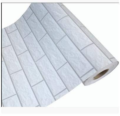 ZCHENG Simulación nostálgica con ladrillo de grano grueso que restaura formas antiguas de papel tapiz de PVC adhesivo papel tapiz impermeable-826, NO 18, ancho de 60 CM