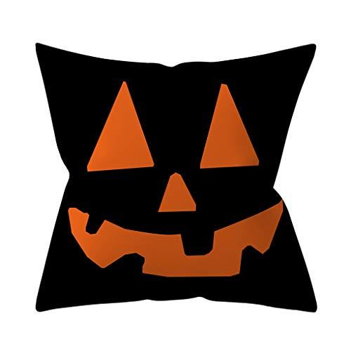 Subfamily Halloween kussensloop 45X45 cm oranje pompoen heks gehaakt house afdrukken kussenslopen wooncultuur sierkussenslopen Home Decoration