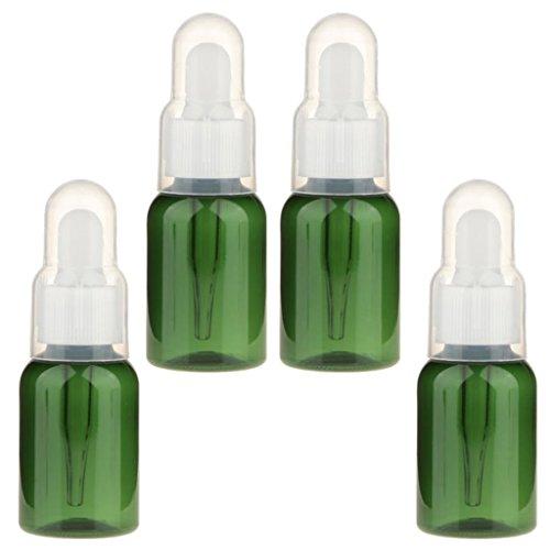 dailymall 4 Flacons Compte-gouttes Rechargeables De 35 Ml Avec Récipient D'échantillon D'huile Essentielle De Pipette
