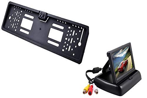 """generica Portatarga con Telecamera Retromarcia e Monitor 4.3"""" Auto Retrocamera 170 Nottura"""