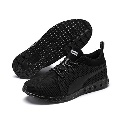 PUMA Puma Herren Fitness-Schuhe Carson Runner Mid Knit FM – Coole Lauf-Schuhe mit optimalem Komfort Carson Runner Mid Knit FM Puma Black-puma Silver 10