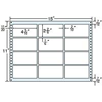 東洋印刷 タックフォームラベル 15インチ ×11インチ 12面付(1ケース500折) MH15E