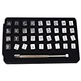 Knoweasy 6mm Steel Punch Alphabet Letter Number Leather Stamper Set,Letter Number Leather Stamper Punching...