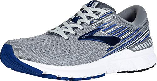 Brooks Men's Adrenaline GTS 19, Grey/Blue, 8 EE