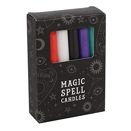 Green Tree Mixed Colour Spell Candles Pack of 12