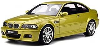 2003 BMW M3 E46 Phoenix Yellow 1/12 Model Car by GT Spirit G025