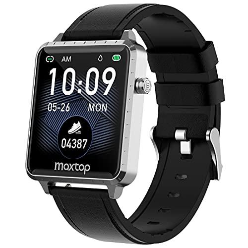 maxtop Smartwatch Orologio Sportivo Fitness Tracker 1,54    Full Touch Uomo Donna requenza Cardiaca Pressione Sanguigna Sonno Salute Monitoraggio Calorie Impermeabile IP68 per Android iOS