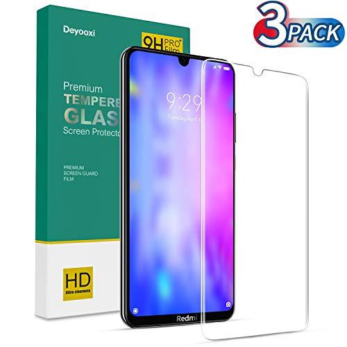 Deyooxi 3 Stück für Panzerglas Schutzfolie für Xiaomi Redmi Note 8T, HD Klar Panzerglasfolie für Xiaomi Redmi Note 8T,9H Härte,Anti-Kratzen,Anti-Öl,Anti-Bläschen Displayschutzfolie.