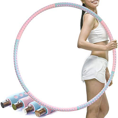 BROADREAM Hula Hoop, Abnehmbarer Hula Hoop Reifen Erwachsene zur Gewichtsreduktion und Massage, 6 Segmente Abnehmbarer Hoola Hoop Reifen Geeignet Für Fitness/Sport/Zuhause/BüRo/Bauchformung. (BR)