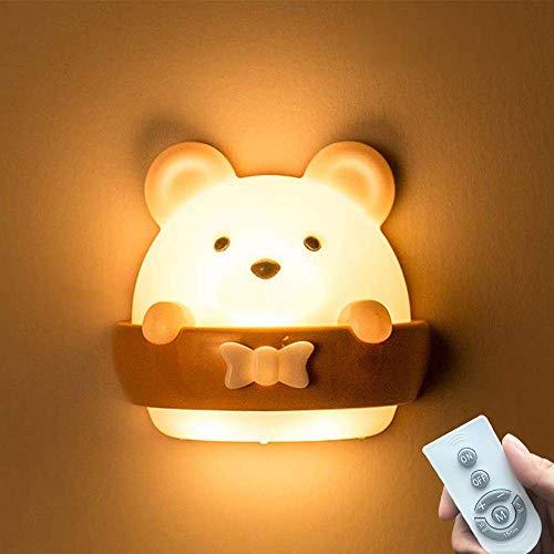 Feliciay Luz de noche para niños, Lámpara de noche para niños, Lámpara de noche para niños, Lámpara de noche de carga USB portátil con mando a distancia para dormir, lectura y relajación