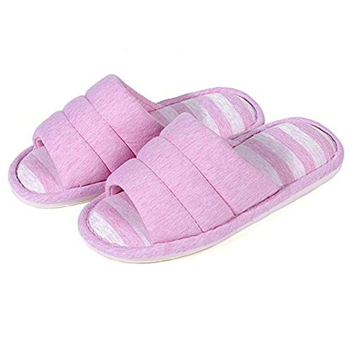 shevalues Women's Soft Indoor Slippers Open Toe Cotton...