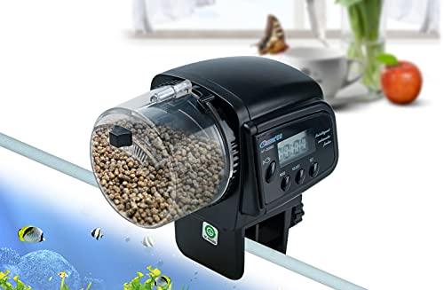 Podazz Alimentador Automático de Acuario , Dispensador de Comida para Peces, Alimentador de Pecera, Alimentador de Tiempo Automático, para Dispensador de Comida para Peces de Vacaciones