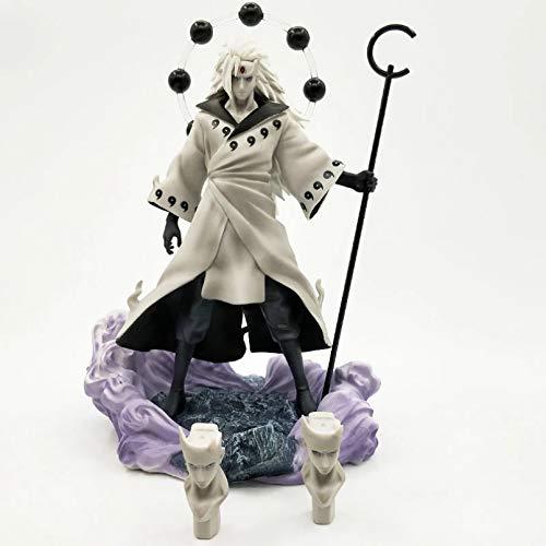JINGRU Anime Figur Anime Naruto Uchiha Madara Rikudō Sennin Ootutuki Hagoromo PVC Actionfigur Gesichtsersatz Sammlung Modell Spielzeug 26cm