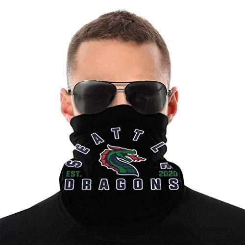 Seattle Dragons 2020 Dustproof Windproof Bandane Sciarpa Multifunzionale Passamontagna Ghette Collo