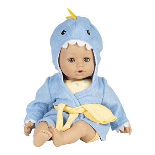 Adora Bath Toy BathTime Baby Doll Dino, 13 inch Best Water Baby Doll for Toddlers 1+, Comes with Exclusive QuikDri Body, Multicolor