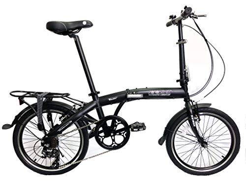 Wonder Model - SOLOROCK 20' 7 Speed Steel Folding Bike (Matt Black)