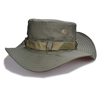 Chapeaux de Soleil Militaires Cap Summer Men Women Camouflage Bucket Hat avec String Fisherman Cap,B