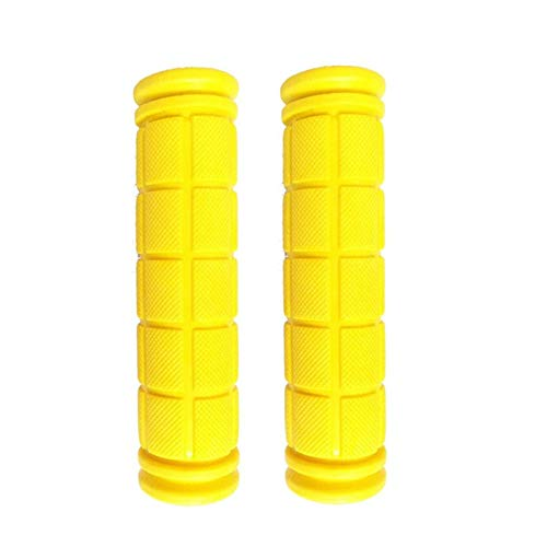QWXZ Anti-slip handlebar Bicycle Handle Bar Handlebar Grips Road MTB Mountain Trek Bike Casing Sheath Grip Handles Covers Bycicle Parts TPR Rubber Easy to install (Color : Yellow)