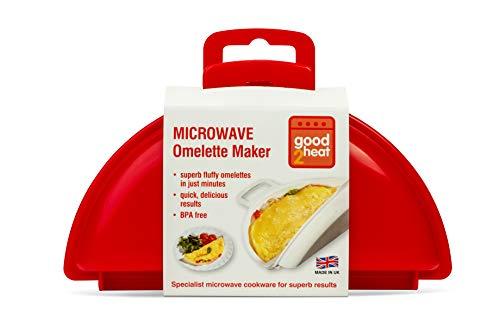 JWP per cuocere al microonde Omelette da 2 Uova, Colore: Rosso
