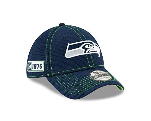 New Era Herren 39Thirty Seattle Seahawks Kappe, Dk Blue, S/M