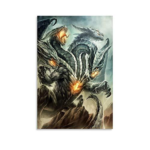 xiaoqiang Hydra Drachen Poster, dekoratives Gemälde, Leinwand, Wandkunst, Wohnzimmer, Poster, Schlafzimmer, Malerei, 30 x 45 cm