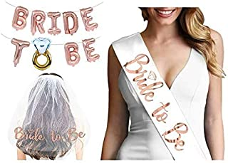 Bride to be Sash and Veil White Set Adjustable Maid of honor sash Bridesmaid sash Team Bride Engagement Party Favors Bache...