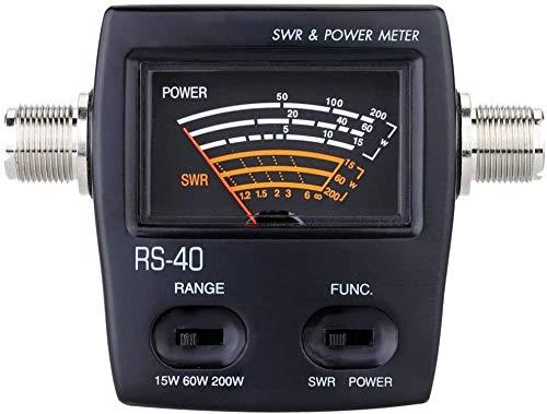 YANQIN Medidor de Potencia y relación de Onda estacionaria, medidor de Potencia de radiofrecuencia de Alta precisión, medidor de Potencia de relación de Onda estacionaria portátil