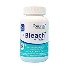 Multipurpose bleach cleaner - Laundry, Bathroom floor/tiles, Toilet, and general-purpose cleaning  This bleach tablet dissolves quickly - Fast, easy, and economical  Quality jar with child resistant cap - retains long lasting effectiveness  Cheaper ...