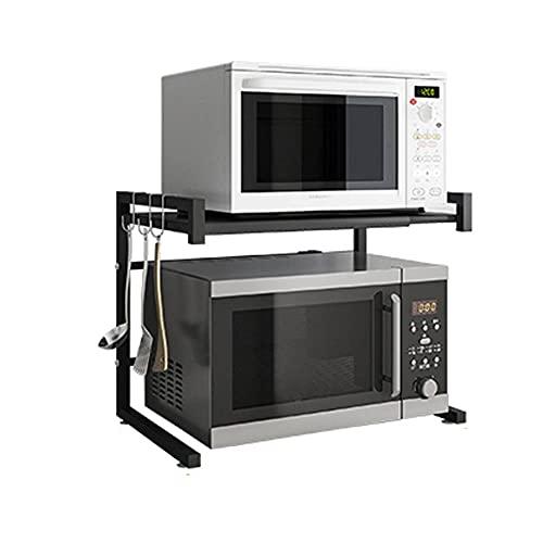 VHGYU Parrilla del Horno Tostador Titular del Organizador De La Cocina Microondas Estante del Horno Metal Multi Función Soporte Soporte De Cocina