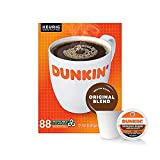Dunkin' Original Blend Medium Roast Coffee, 88 Keurig K-Cup Pods