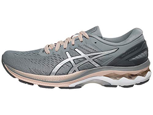 ASICS Women's Gel-Kayano 27 Running Shoes, 8M, Sheet Rock/Pure Silver