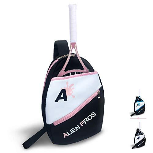 Alien Pros - Mochila de tenis ligera para tu raqueta y otros elementos esenciales, bolsa de pala de tenis, bolsa de bandolera para hombres y mujeres