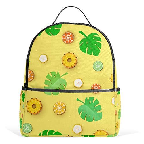 Orediy Jungle Leaves Citrus Fruit Rugzakken School Boek Tas Casual Reizen Dagpack voor Jongens Meisjes