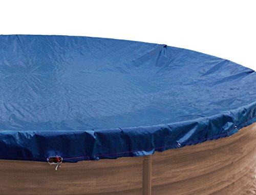 GRASEKAMP Qualität seit 1972 Abdeckplane für Pool oval 525x320cm Royalblau Planenmaß 600x400cm Sommer Winter