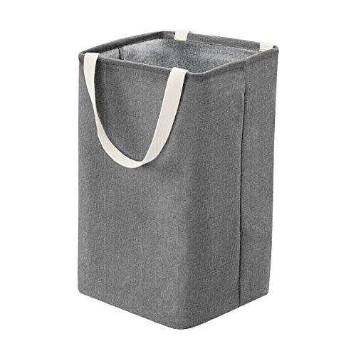 Amazon Basics – Canasto de tela, alto, cúbico, gris oscuro