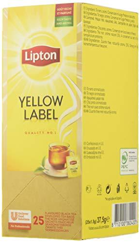Lipton Té Negro Yellow Label - 6 cajas de 25 sobres
