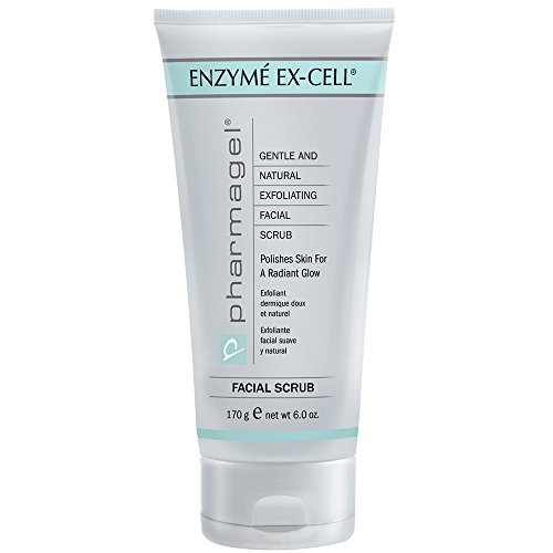 Pharmagel Enzyme Ex-Cell - Gentle Papaya Face Exfoliator Scrub for All Skin Types - 6 Ounces