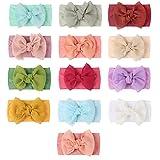 Baby Stirnband, Stretchy Nylon mit großer Schleife Haarband für Babys, Neugeborene, Kleinkinder und Kinder, Packung mit 13