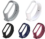 Liddu Wristband Band Straps for Xiaomi Original Mi 3 & Mi 4 Bands (Combo Pack, Pack of 5) (Grey, White, Black, Navy Blue, Black, Wine Red) (Xiaomi Mi Band 4 Original) wristband tracker Mar, 2021