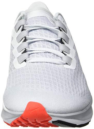 Nike Air Zoom Pegasus 37, Zapatillas para Correr Hombre, Pure Platinum Racer Blue Wolf Grey BRT Crimson White Black, 43 EU
