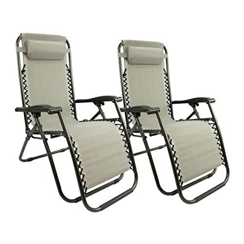 lettino da giardino 150kg MaxxGarden – Set di sedie a sdraio per giardino