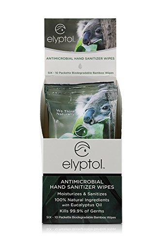 Elyptol Natural Hand Sanitizing Wipes Dual 67% OFF of fixed price Moisturizer - Max 58% OFF Action