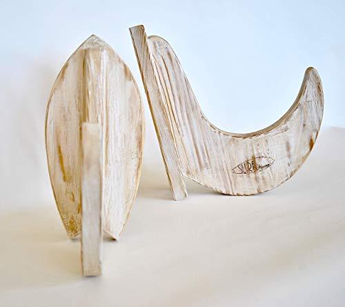 Handgefertigte Holzständer für Surfboard und Snowboard -