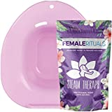 Female Rituals - Yoni Steam Seat Kit with Yoni Steam Herbs (4 Ounce) Bundle - Yoni Steam Seat for Toilet - Yoni Steam Herbs for Cleansing - V Steam - Goddess Detox Natural Feminine Wash for Women